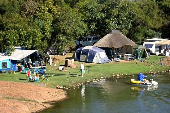 Dinokeng camping and fishing roodeplaat dam for Campsites with fishing