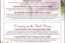 Mothers Day 2016 Dining - Vaal River